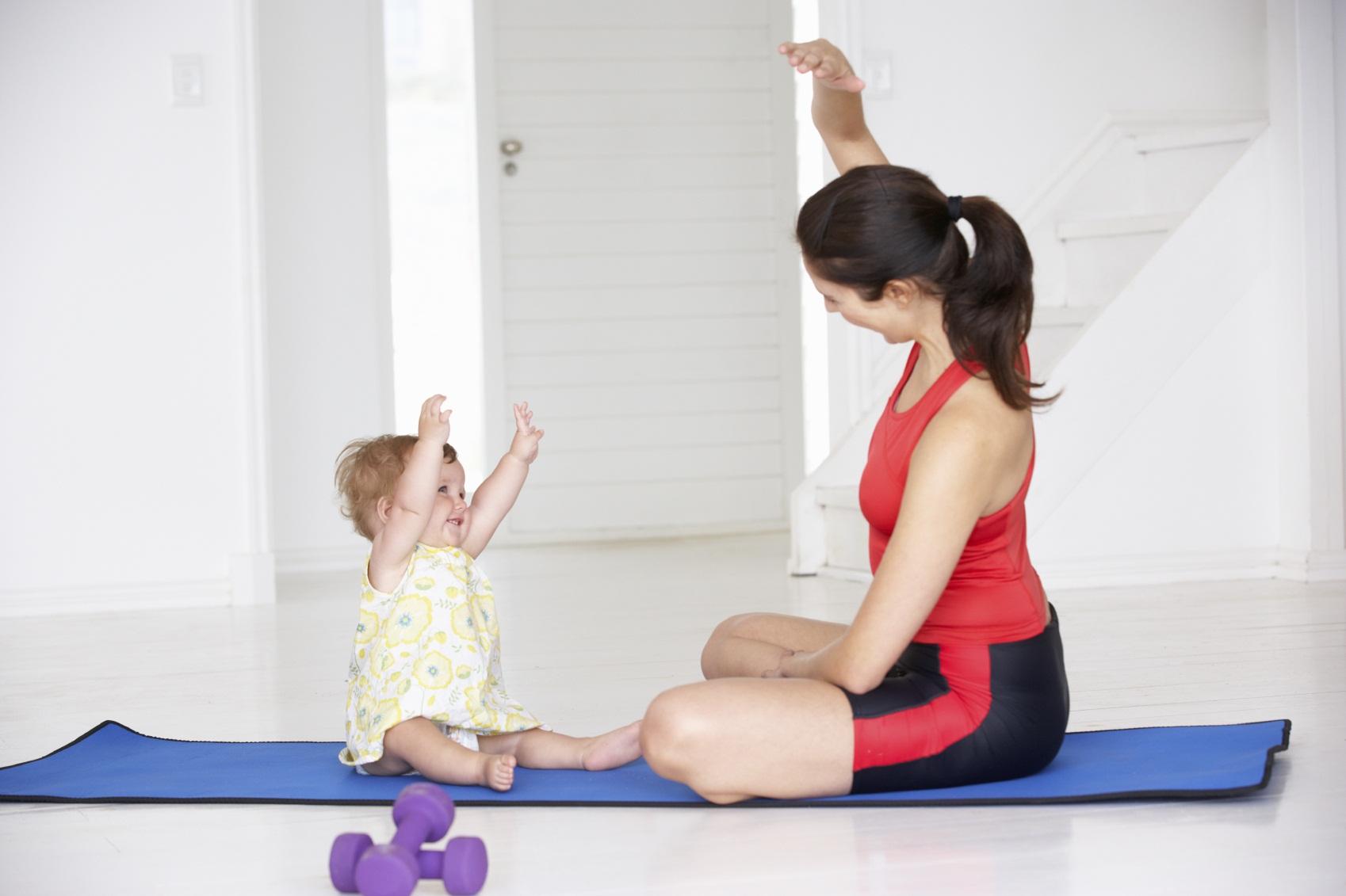 Esercizi per la mamma ed il suo bambino