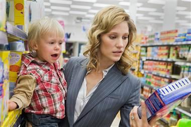 Al centro commerciale con il bambino!