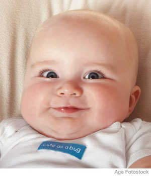 Il vostro bambino sta sorridendo?