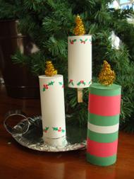 Lavoretti Di Natale Con Le Candele.Lavoretti Candele Di Natale Con La Carta Mamme Magazine