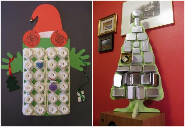 Calendario dell?Avvento con cartoni uova riciclati - Mamme Magazine