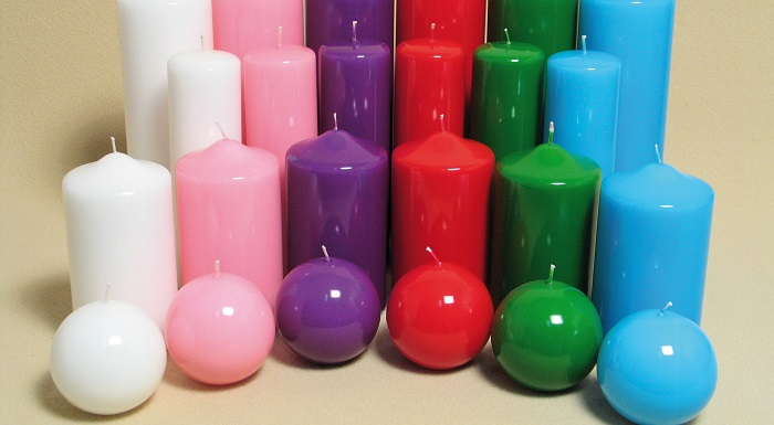 Candele colorate fai da te tavola san valentino mamme for Candele colorate