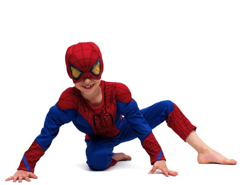 Costume carnevale fai da te uomo ragno bimbo anni