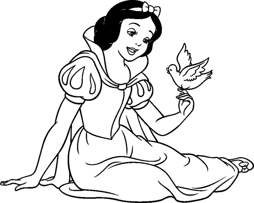 disegni da colorare con biancaneve