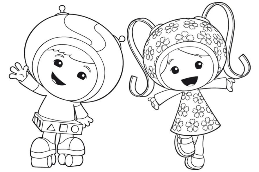 disegni da colorare teamunizoomi