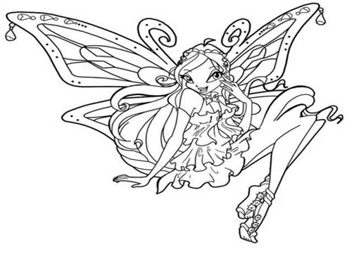 Disegni da colorare musa sirenix mamme magazine for Disegnare elsa frozen