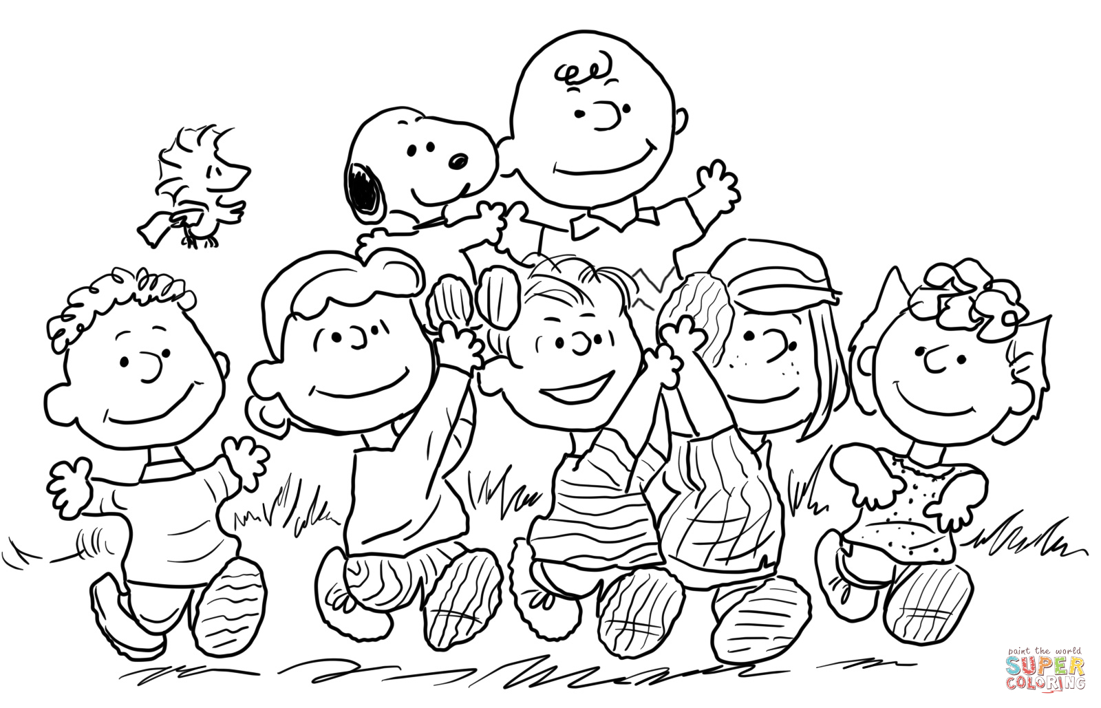 Disegni da colorare peanuts mamme magazine for Snoopy coloring page