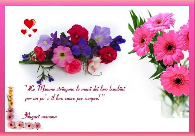 Ben noto Biglietto d'auguri festa della mamma con i fiori - Mamme Magazine NC35