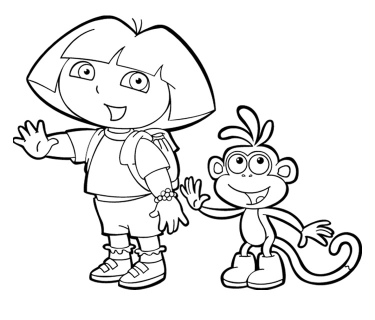 Disegni da colorare dora mamme magazine for Dora black and white coloring pages