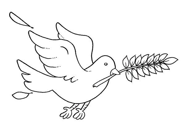 Disegni da stampare colomba per bambini pasqua mamme for Disegni di paesaggi da colorare
