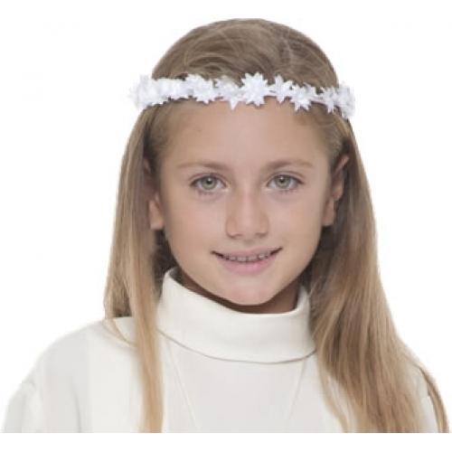 Top Acconciature capelli coroncina di fiori per prima comunione WB68