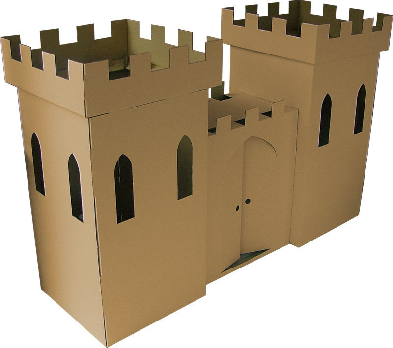 Come fare castello di cartone per bambini mamme magazine for Tempo per costruire una casa