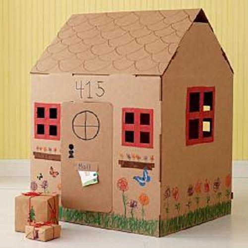 Come fare casetta di cartone per bambini - Casette di cartone da costruire ...