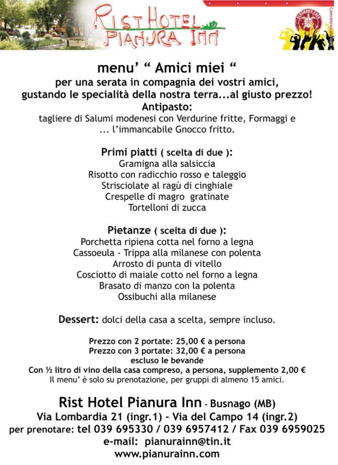 Idee menu pranzo cresima con 50 euro mamme magazine for Disegni e prezzi della casa
