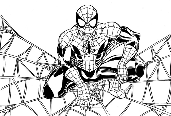 Disegni da colorare spiderman for Disegni spiderman da colorare