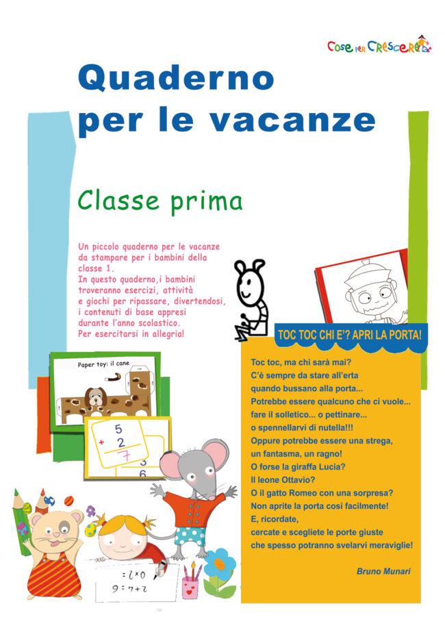 Eccezionale Compiti per le vacanze estive prima elementare - Mamme Magazine ZU18