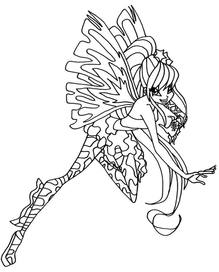 Winx stella da colorare gratis for Winx sirenix coloring pages