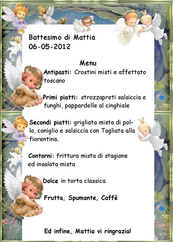 Top Idee menu pranzo battesimo con 40 euro - Mamme Magazine BU76