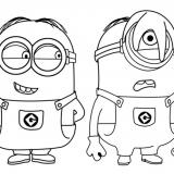Disegni da colorare Minions per bambini