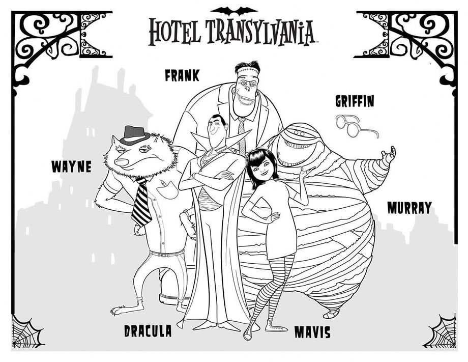 disegni da colorare hotel transilvania 2