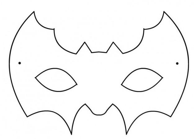 Come fare maschera di pipistrello per halloween mamme for Maschere da colorare di spiderman