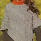 Schema mantella di lana bambina