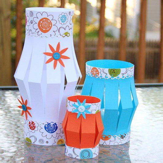 Come fare lanterne di carta fai da te con bambini mamme - Lanterne portacandele fai da te ...