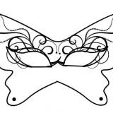Maschera Carnevale farfalla da colorare