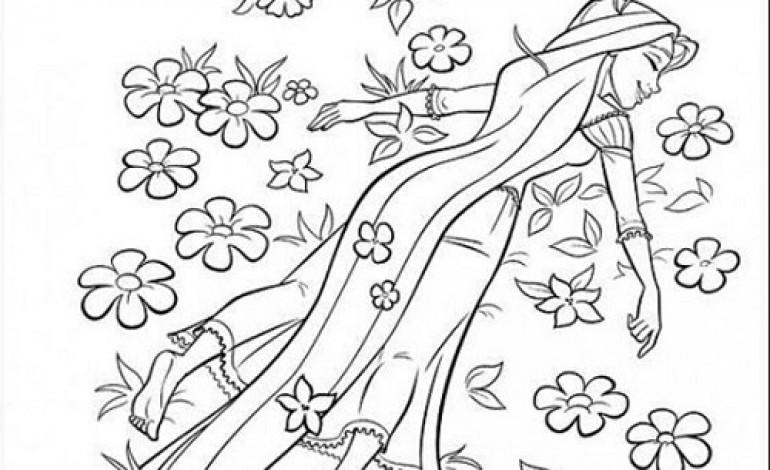 disegni da colorare primavera rapunzel