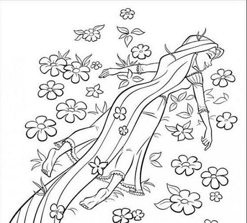 Disegni Da Colorare Primavera Rapunzel Mamme Magazine