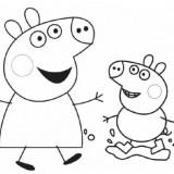 creare dei disegni di peppa pig per pasqua
