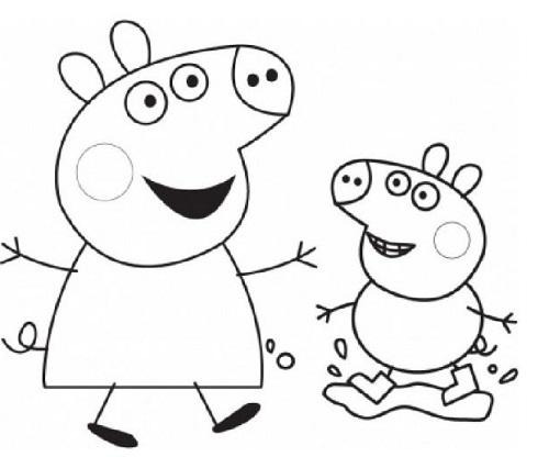Peppa pig da colorare e stampare peppa pig a natale da for Maschere di peppa pig da colorare
