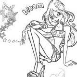 lavoretto di preparazione immagini da colorare Bloom Butterflix