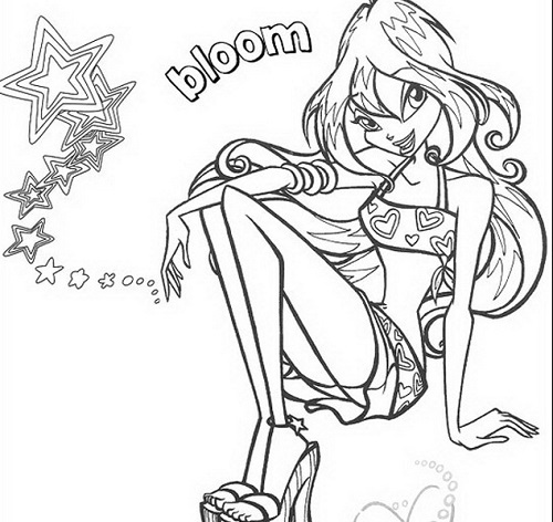 Disegni da colorare bloom butterflix winx club mamme - Contorni delle immagini da colorare ...