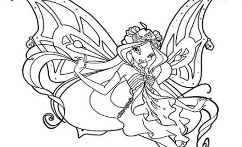 Disegni da colorare Flora Butterflix Winx Club