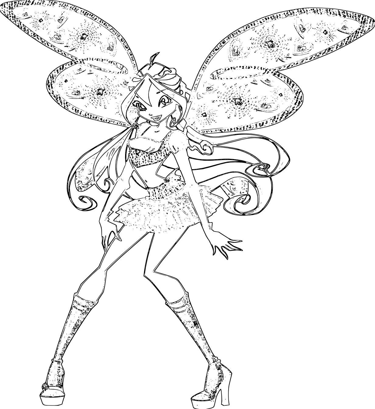 Disegni da colorare shiny winx club settima stagione - Coloriage winx bloom ...