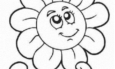 Disegni da colorare con margherite per bambini