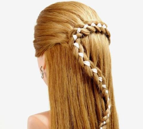 Amato Idee acconciature prima comunione bambine capelli lunghi - Mamme  GM99