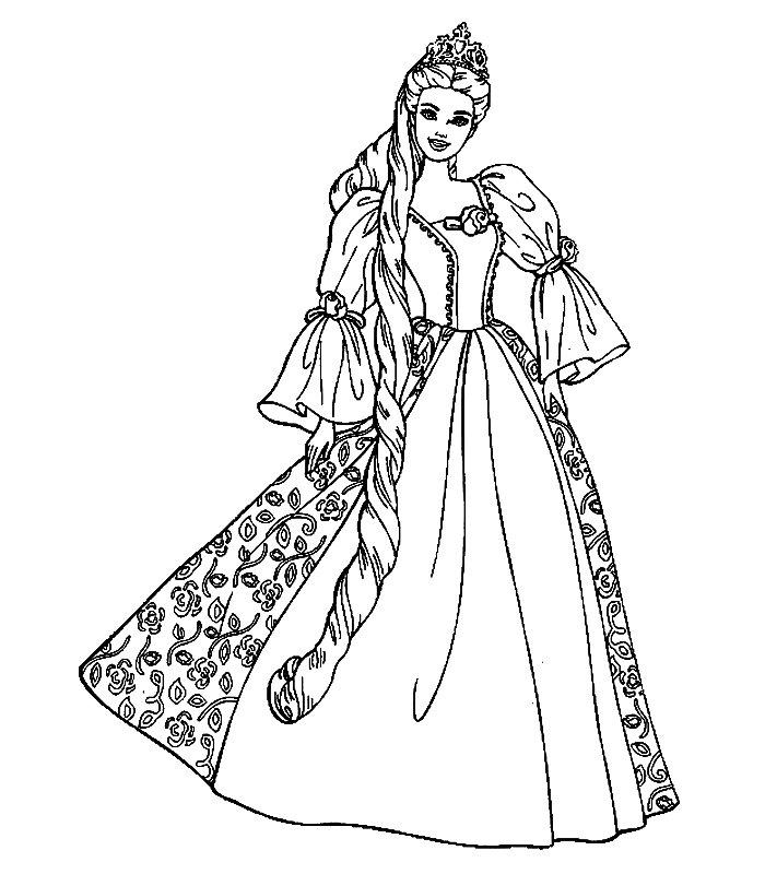 Disegni da colorare barbie accademia delle principesse for Disegni da colorare barbie