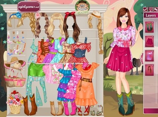 Giochi vestiti Barbie primavera