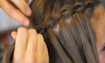 Trecce per capelli scalati bambina prima comunione