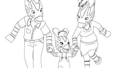 Disegni da colorare Zou la zebra