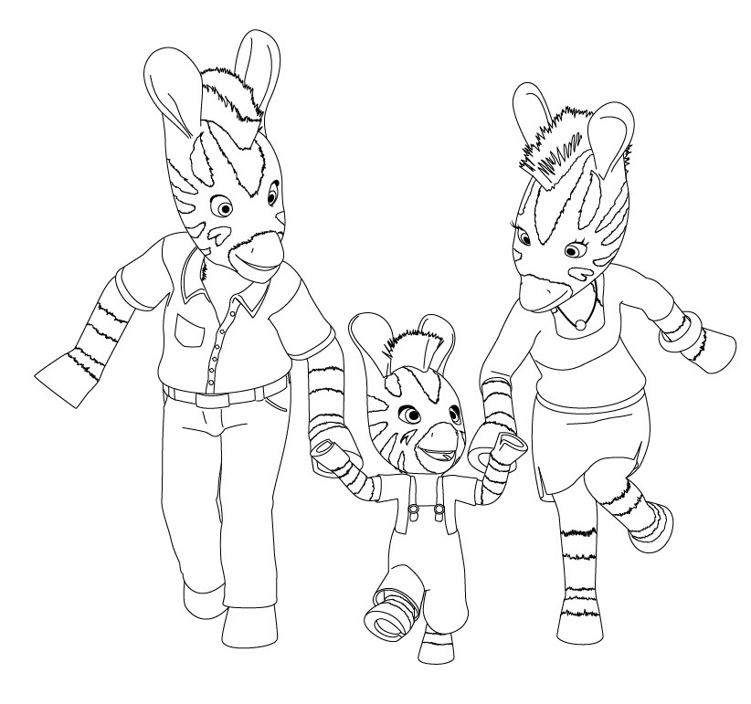 Disegni da colorare zou la zebra mamme magazine