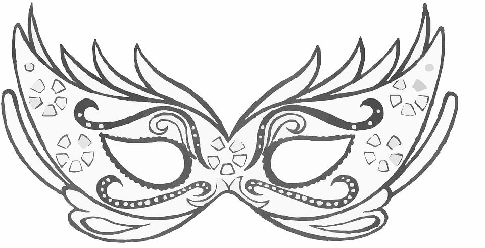 Maschere di carnevale da stampare per bambine for Maschera di flash da colorare