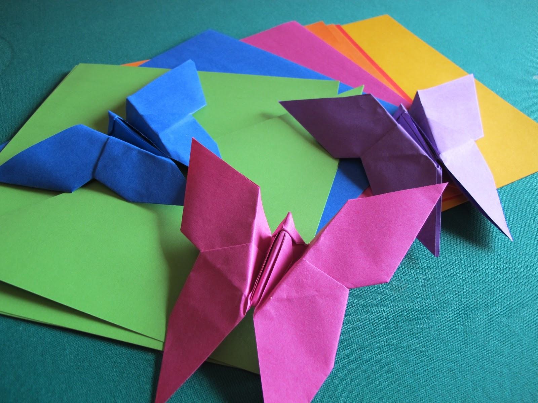 Farfalle Fai Da Te tutorial origami farfalla